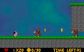 Screenshot of Gens Gold Mario